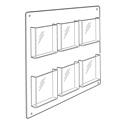 6 Pocket Magazine Wall Rack, Horizontal