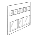 6 Pocket Tri-fold, 3 Pocket Magazine Wall Rack