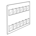 12 Pocket Tri-fold Wall Rack, Horizontal