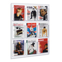 9 Pocket Magazine Wall Rack