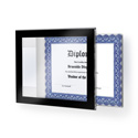 "Black Border Acrylic Wall Frame, 11"" x 8-1/2"""