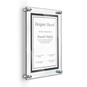 "Deluxe Acrylic Standoff Wall Frame, 8-1/2"" x 11"", Clear"